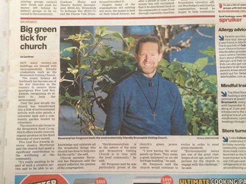 Brunswick Uniting Church in the Moreland Leader August 23 2016